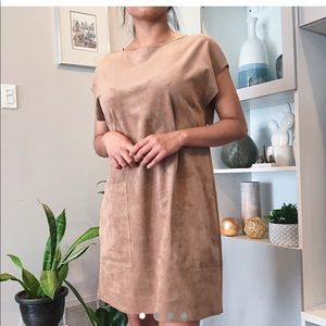 Aritzia/wilfred faux suade dress